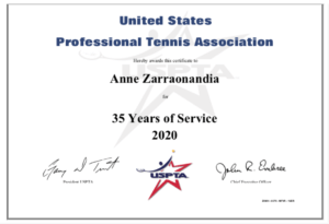 USPTA Elite Tennis Professional