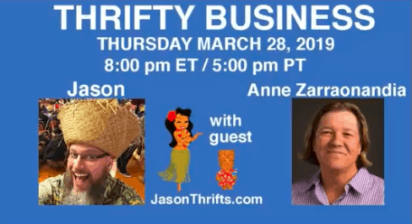 Anne Z Appears on Thrifty Business 3/19/19