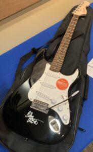 My Fender Electric Guitar Signed by Bob Weir