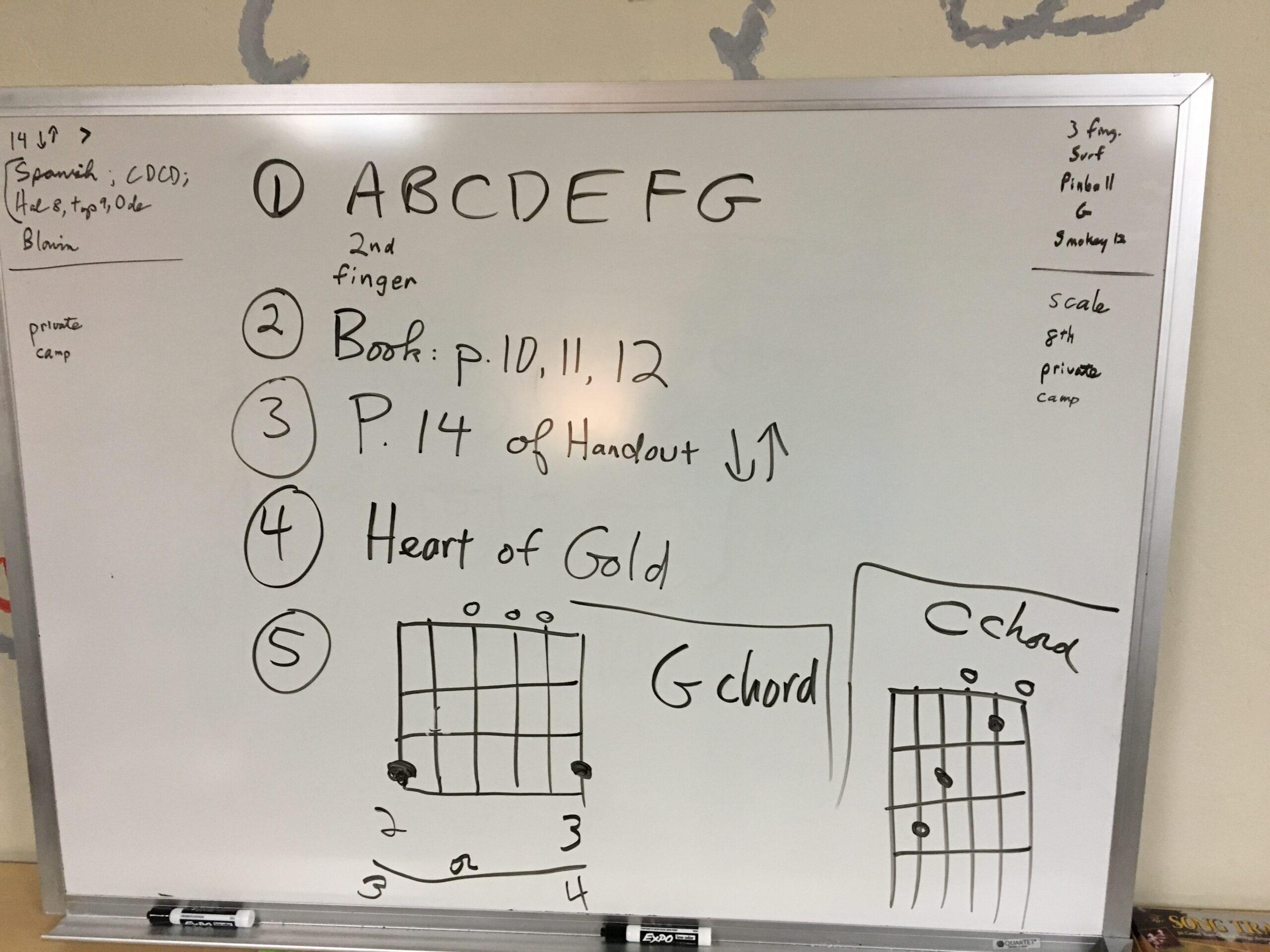 My Guitar Lesson Homework