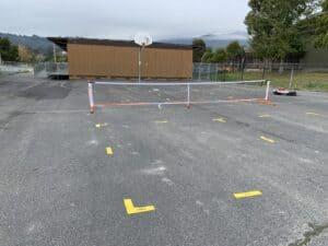 Pickleball Net and Court Setup